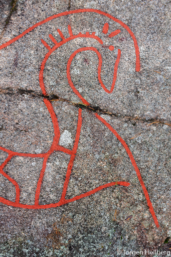 Detail of rock carving